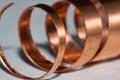Copper shavings Royalty Free Stock Photo