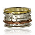 Copper and silver ring Royalty Free Stock Photo