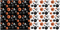 Copper, Steel and Black Metal Spheres, 2 Backgrounds Royalty Free Stock Photo