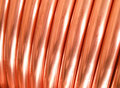 Copper tubing Royalty Free Stock Photos
