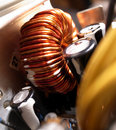 Copper wire coil Stock Images