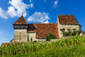 Copsa mare fortified church in transylvania romania churches evangelical built th century by saxons medieval region actually Royalty Free Stock Photo