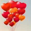 Copula of red gel balloons. EPS 8 Stock Images