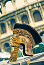Copy of ancient helmet of Roman legionary Royalty Free Stock Photography