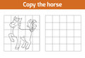 Copy the picture: horse Royalty Free Stock Photo