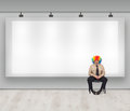 Copy space with clown Royalty Free Stock Photo