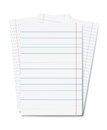 Copybook sheets isolated