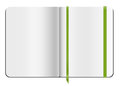 Copybook template blank opened moleskine with bookmark vector illustration Royalty Free Stock Images