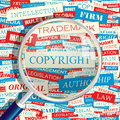 Copyright concept related words in tag cloud conceptual info text graphic word collage Royalty Free Stock Image