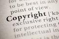 Copyright fake dictionary dictionary definition of the word Stock Images