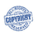 Copyright grunge rubber stamp Stock Photography
