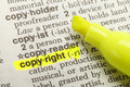 Copyright Highlight Royalty Free Stock Photography