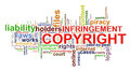 Copyright infringement wordcloud Royalty Free Stock Photo