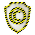 Copyright shield warning icon on white Royalty Free Stock Photos