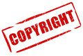 Copyright stamp isolated on white Royalty Free Stock Photo