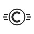 Copyright symbol like intellectual property