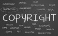 Copyright word cloud Stock Photos