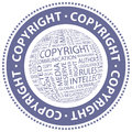 Copyright word cloud illustration tag cloud concept collage Royalty Free Stock Image