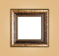 Copyspace empty wooden picture frame composition Royalty Free Stock Photo