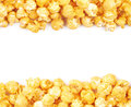 Copyspace popcorn background Royalty Free Stock Photo