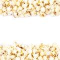 Copyspace popcorn background Royalty Free Stock Photo