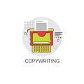 Copywriting Freelance Occupation Content Marketing Icon