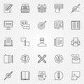 Copywriting icons set