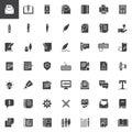 Copywriting vector icons set