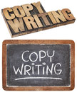 Copywriting word Stock Photos