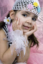 Coquette little girl Stock Images