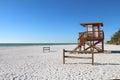 Coquina beach on Anna Maria Island, Florida Royalty Free Stock Photo