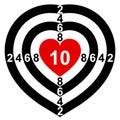 Coração-Alvo Imagem de Stock Royalty Free