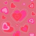 Coração bonito. textura de background.seamless. Imagens de Stock Royalty Free