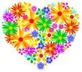 Coração da mola Foto de Stock Royalty Free