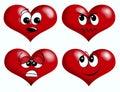 Corações do smiley Imagem de Stock Royalty Free