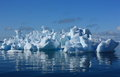 Coral iceberg strange in antarctica art of nature Royalty Free Stock Photography