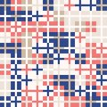 Coral red and navy blue with gold. Random colored abstract geometric mosaic pattern background Royalty Free Stock Photo