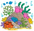 Coral reef theme image 1 Stock Images