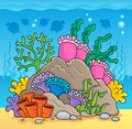 Coral reef theme image 2 Royalty Free Stock Image