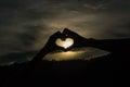 Corazón de la silueta Foto de archivo libre de regalías