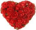 Corazón de rosas Fotos de archivo libres de regalías