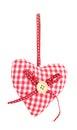 Corazón decorativo de la tela Fotos de archivo libres de regalías