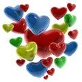 Corazones de colores Stock Image