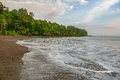 Corcovado National Park - beach view with pacific ocean Royalty Free Stock Photo