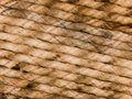 Cord from threads of a natural origin Royalty Free Stock Photo