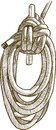 Cordage vector drawing of a fragment of a rigging of a sailing vessel Royalty Free Stock Image