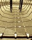 Cordas no frame de escalada Imagem de Stock