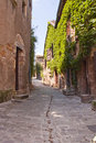 Cordes sur ciel narrow street in the village of france Royalty Free Stock Images