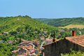 Cordes sur ciel a small medieval city on a hill in southern frace france near albi and toulouse seen from above Stock Photo