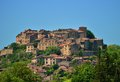 Cordes sur ciel a small medieval city on a hill in southern france near albi and toulouse Royalty Free Stock Photography